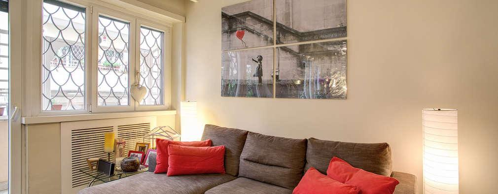 Salas / recibidores de estilo moderno por MOB ARCHITECTS
