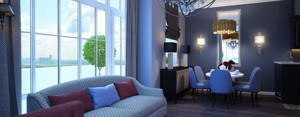 Salas de estar ecléticas por Natalia Solo Design