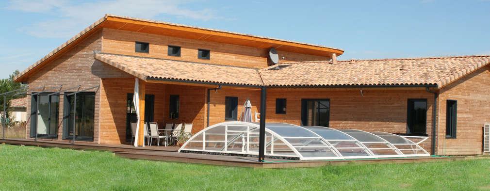Maison individuelle ossature bois: Maisons de style de style Moderne par i Petra France