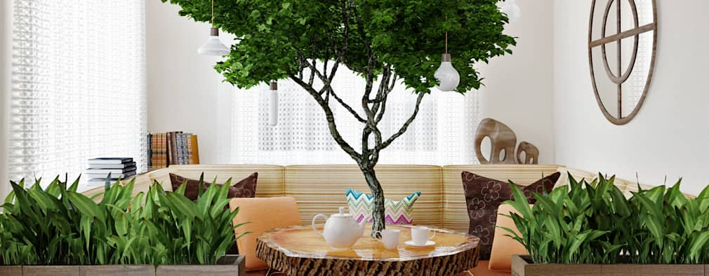 Projekty,  Ogród zimowy zaprojektowane przez Olesya Parkhomenko