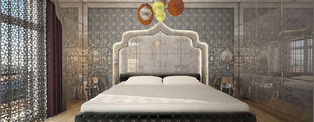Origami Mobilya – Bakü Projesi Yatak Odası Tasarımı: eklektik tarz tarz Yatak Odası