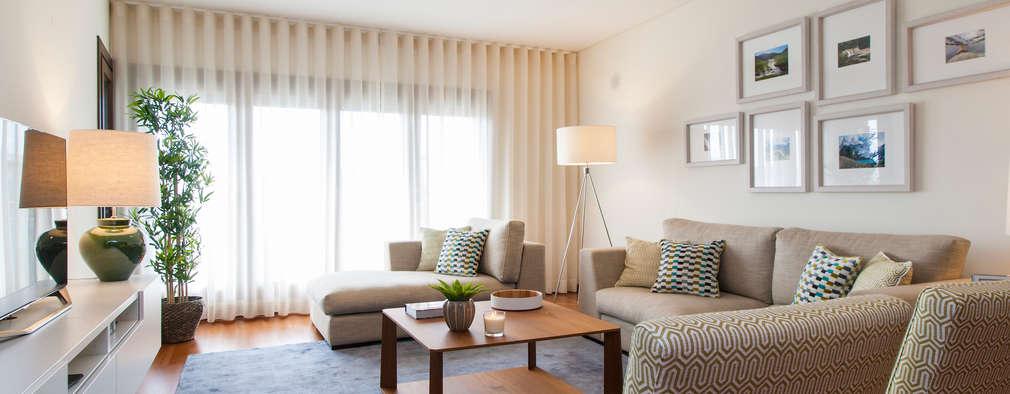 Livings de estilo moderno por Traço Magenta - Design de Interiores