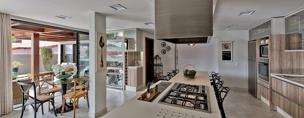 7 ideas geniales para separar la cocina de la sala y el for Separacion de muebles cocina comedor
