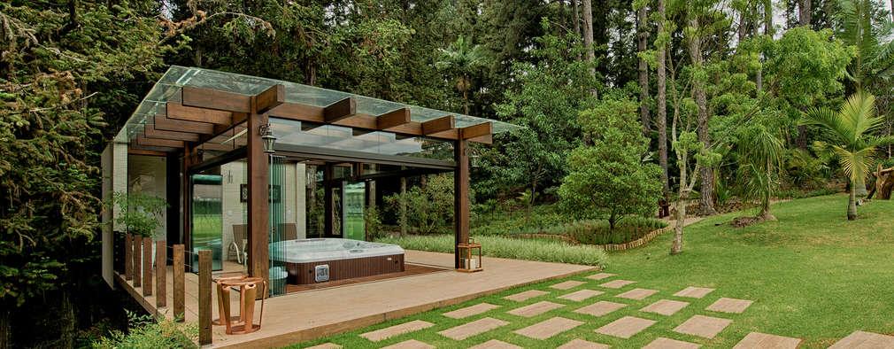Projekty, rustykalne Spa zaprojektowane przez Espaço do Traço arquitetura