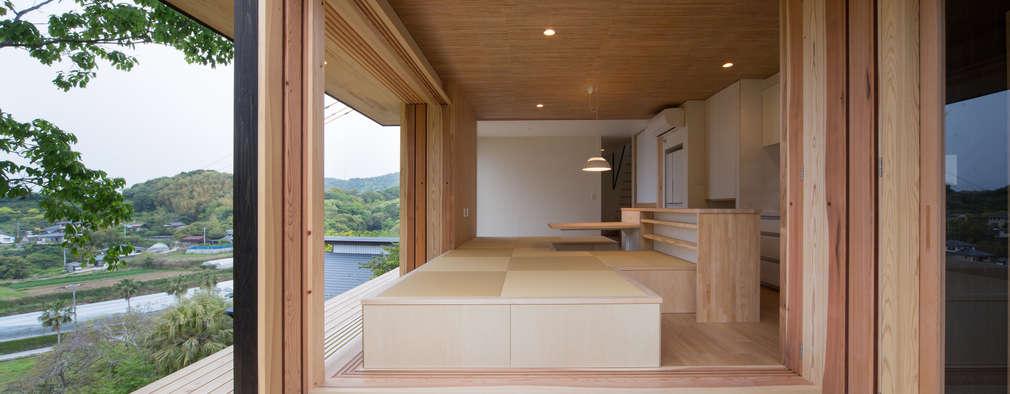Tei 縁側: キリコ設計事務所が手掛けたベランダです。