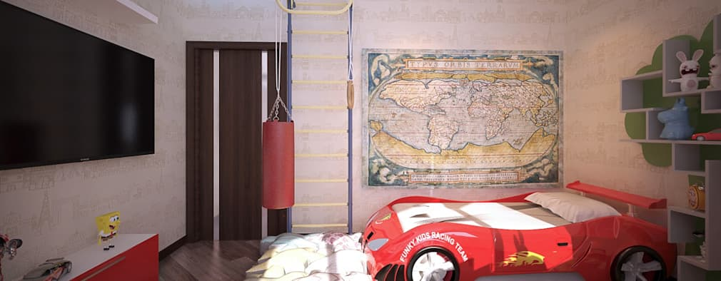 بچے کا کمرہ  by Студия интерьерного дизайна happy.design