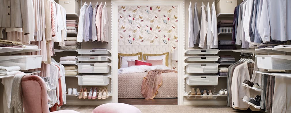vestidores de estilo escandinavo de elfa deutschland gmbh - Dormitorio Con Vestidor