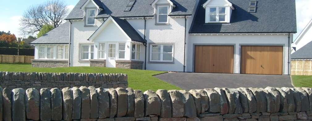 Projekty, nowoczesne Domy zaprojektowane przez Roundhouse Architecture Ltd