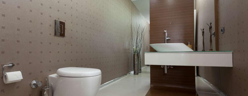 Mimkare İçmimarlık Ltd. Şti. – E. BUYUKKOKDERE SAHILEVLERI EV: modern tarz Banyo