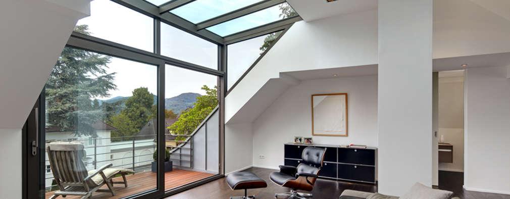 moderne Woonkamer door Architekturbüro Lehnen