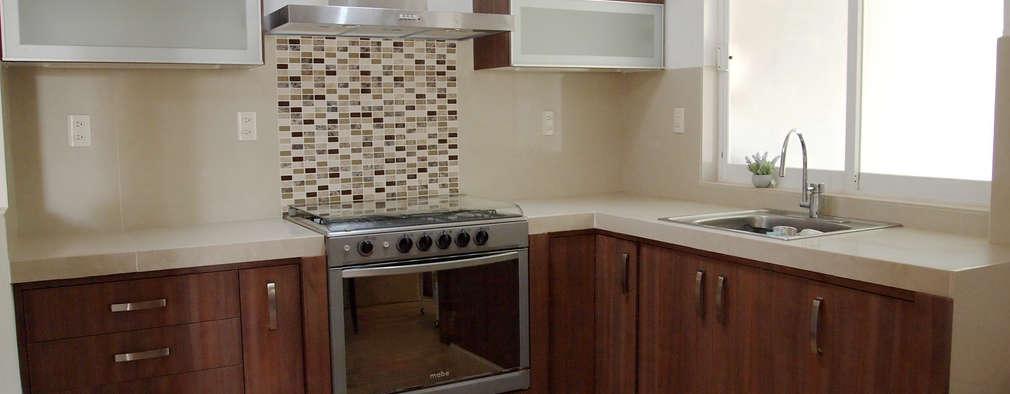 8 cocinas peque as pero llenas de encanto for Cocinas integrales de concreto pequenas