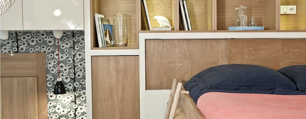 Dormitorios de estilo  por Géraldine Laferté