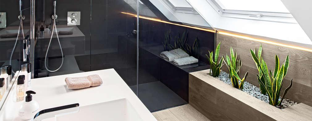 Salle de bains de style  par Tarimas de Autor