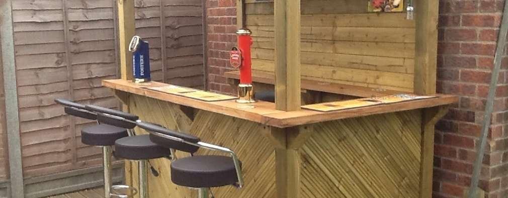 16 ideias de bares para encomendar com seu marceneiro for Mobiliario rustico para bares