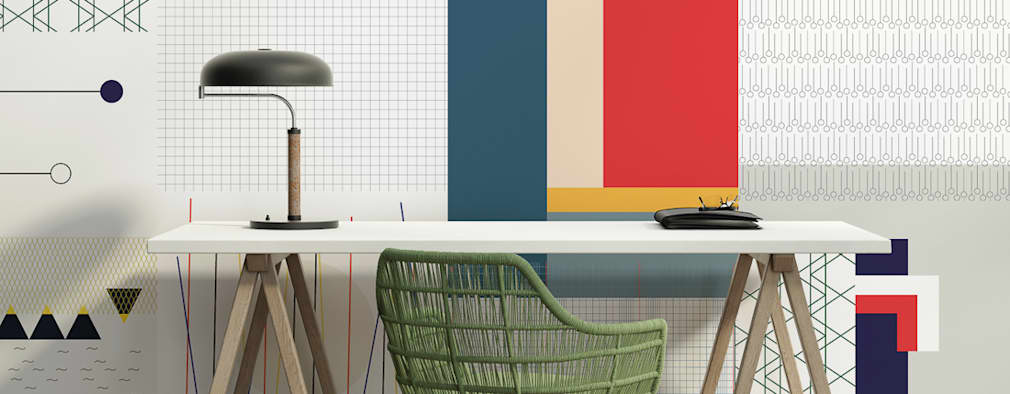 eclectic Study/office by All The Fruits