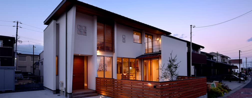 rumah jepang bentuk l untuk keluarga kecil
