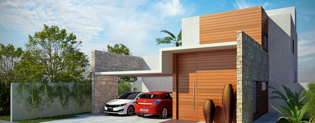 Casas de estilo moderno por Tony Santos Arquitetura
