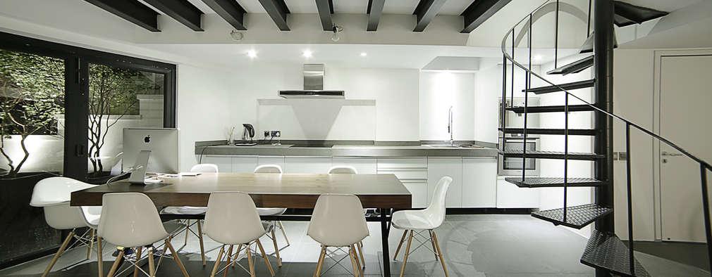 modern Dining room by OneByNine