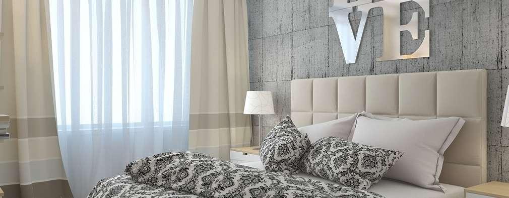 minimalistic Bedroom by архитектор-дизайнер Алтоцкий Михаил (Altotskiy Mikhail)