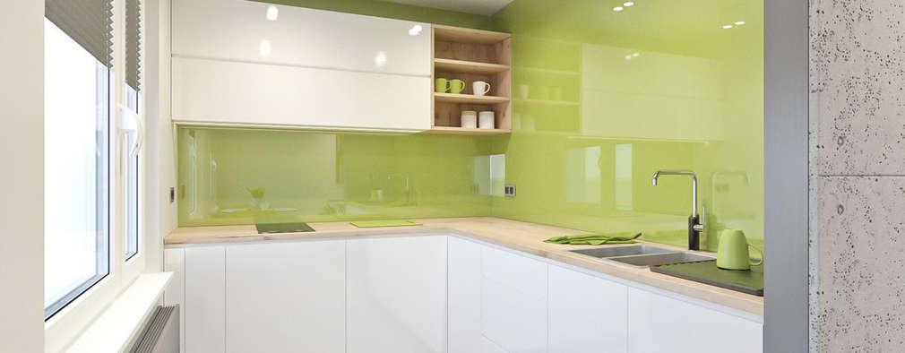 mieszkanie - Zakopane, Słoneczna - wizualizacja: styl , w kategorii Kuchnia zaprojektowany przez MIRAI STUDIO