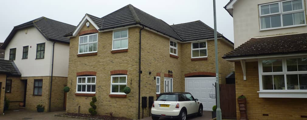 Front Elevation - Before: modern Houses by Arc 3 Architects & Chartered Surveyors
