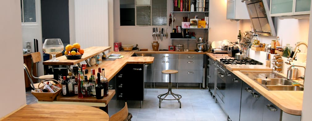 industrial Kitchen by Cabinet Dario