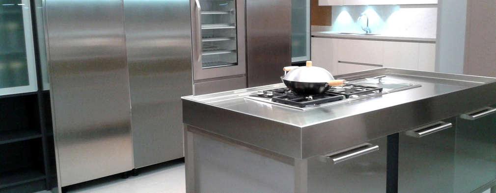 7 topes en acero inoxidable para que tu cocina brille y for Cocinas de acero inoxidable para casa