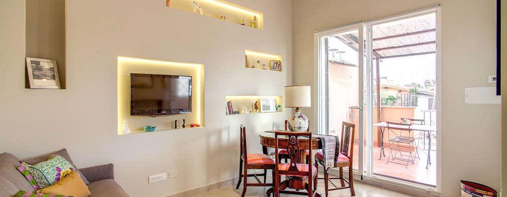 Projekty,  Salon zaprojektowane przez MOB ARCHITECTS