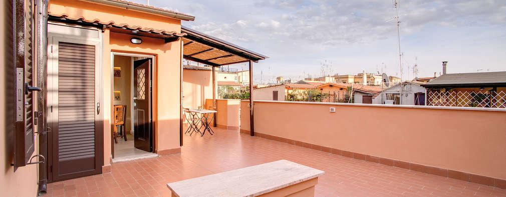 شقة استديو بتصميم متميز على سطح منزل إيطالي