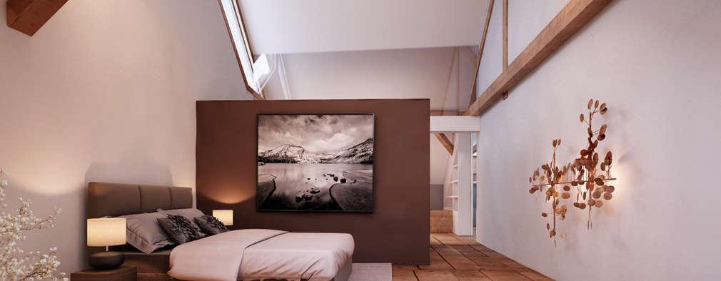 rustic Bedroom by von Mann Architektur GmbH