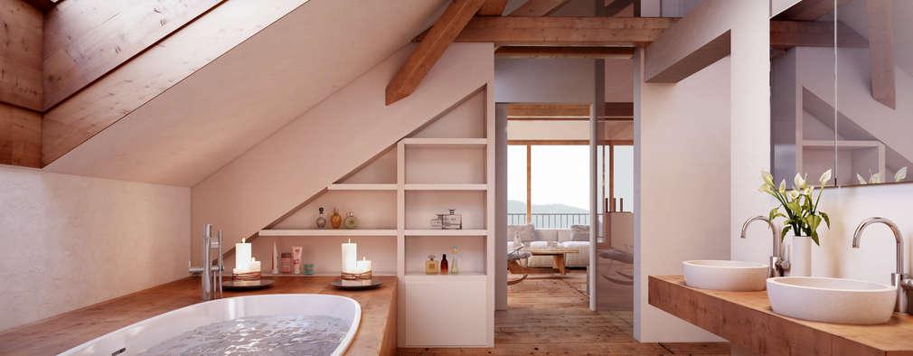 von Mann Architektur GmbH의  화장실