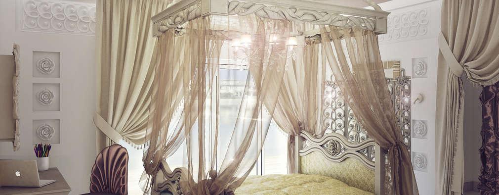 3D_DESIGNER_ALLA: eklektik tarz tarz Yatak Odası