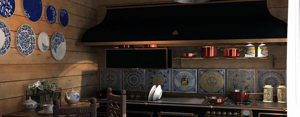 Cocinas de estilo rústico por AnARCHI