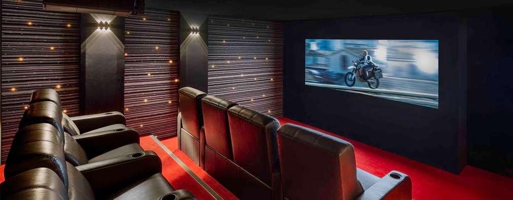 Salas multimedia de estilo moderno por Decoussemaecker Interieurs