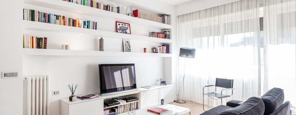 Livings de estilo moderno por zero6studio - Studio Associato di Architettura