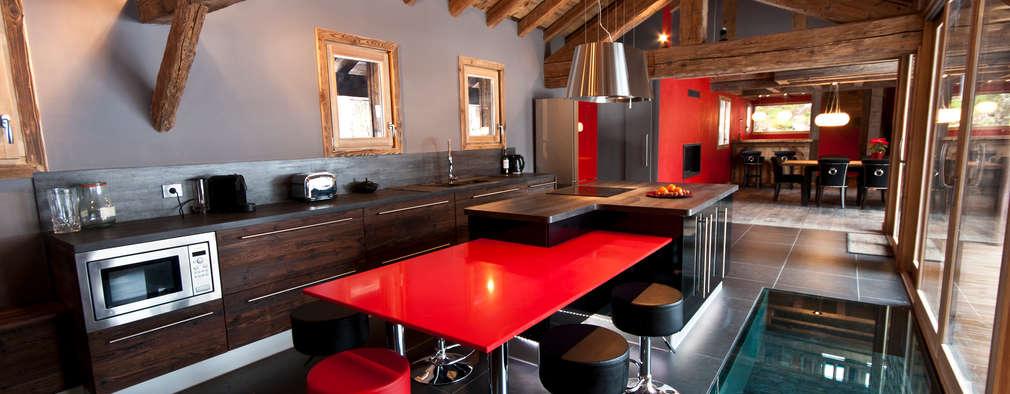 Chalet de Claude: cuisine: Cuisine de style de stile Rural par shep&kyles design