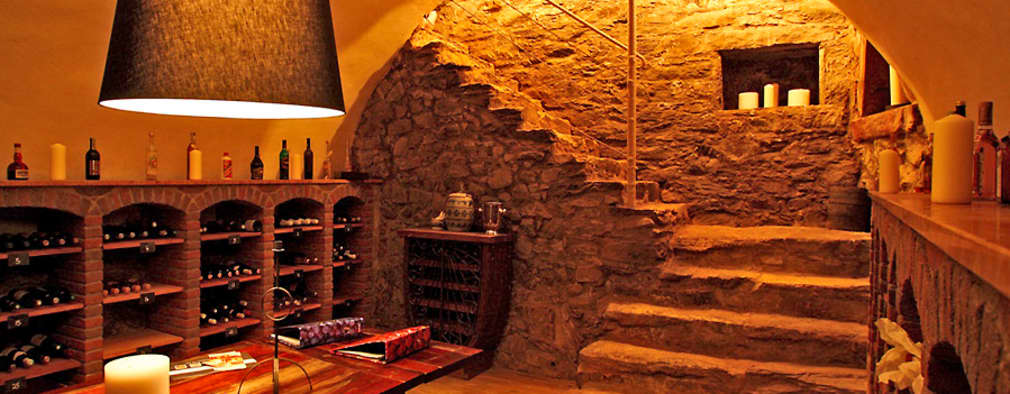 rustic Wine cellar by Architekturbüro Hans-Jürgen Lison