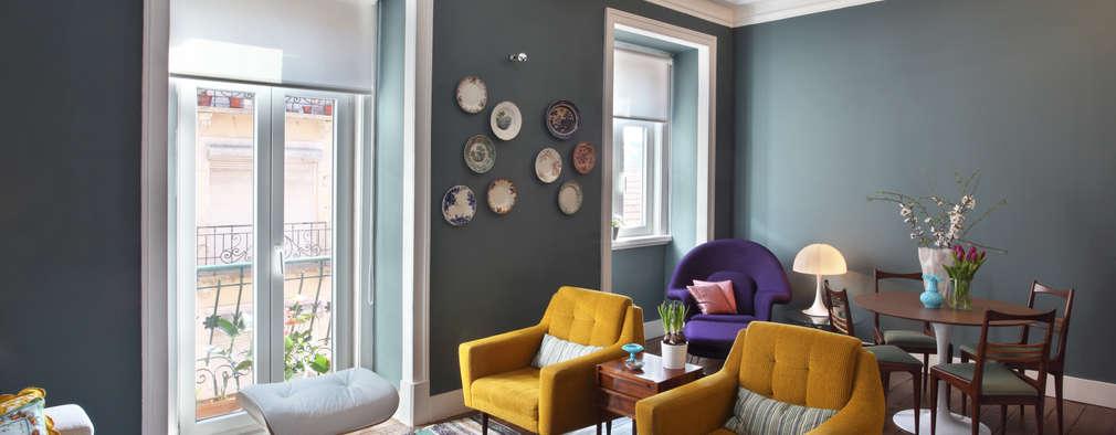 Soggiorno In Stile In Stile Eclettico Di Tiago Patricio Rodrigues,  Arquitectura E Interiores