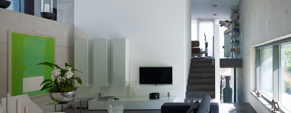 رہنے کا کمرہ  by PaulBretz Architectes