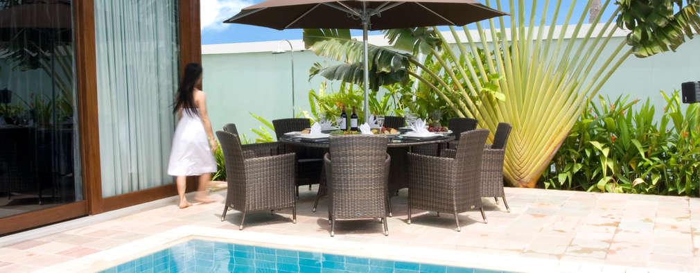 Feri Round Dining Set :   by Garden Furniture Centre