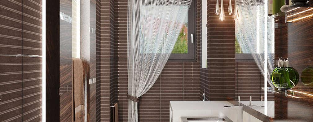 Лаконичный интерьер для маленькой ванной: Ванные комнаты в . Автор – Студия дизайна Interior Design IDEAS