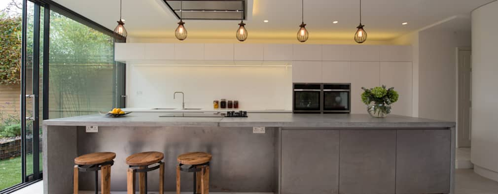 Peckham Victorian house wrap around extension: industrial Kitchen by Ar'Chic