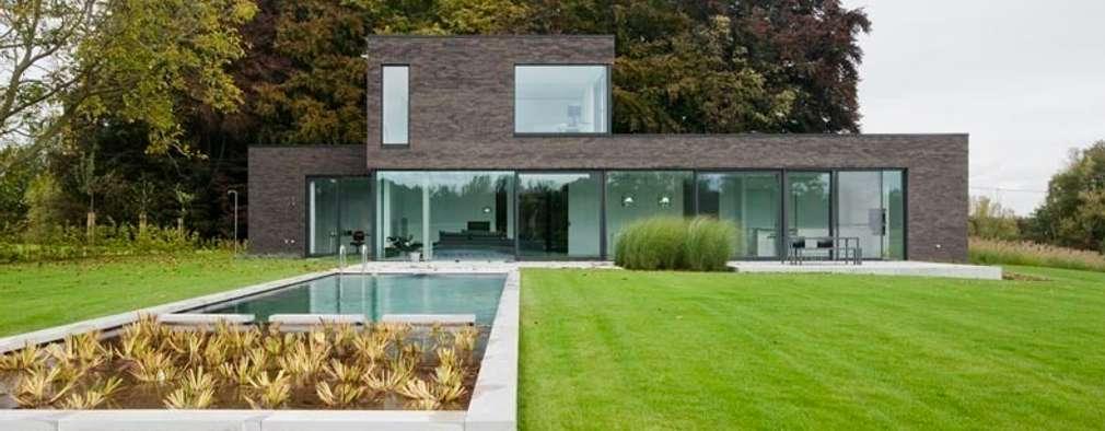 modern Houses by hasa architecten bvba