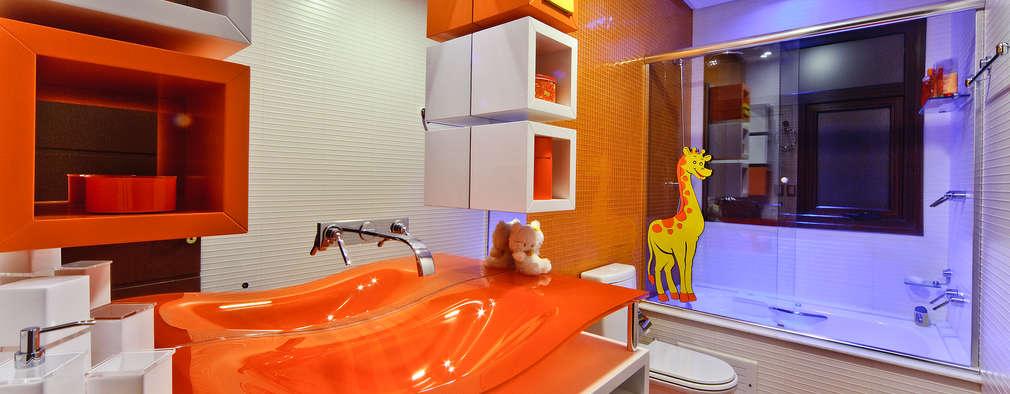 modern Bathroom by arquiteta aclaene de mello