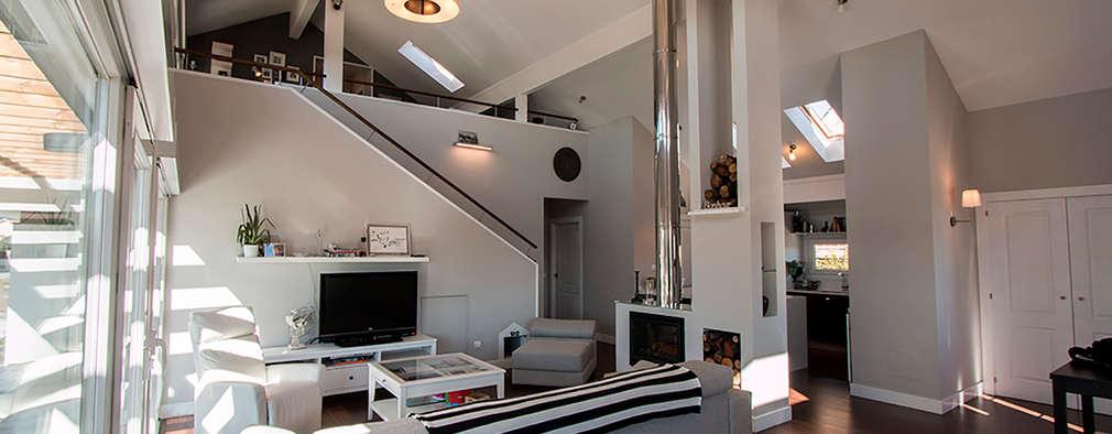 Projekty,  Salon zaprojektowane przez Canexel