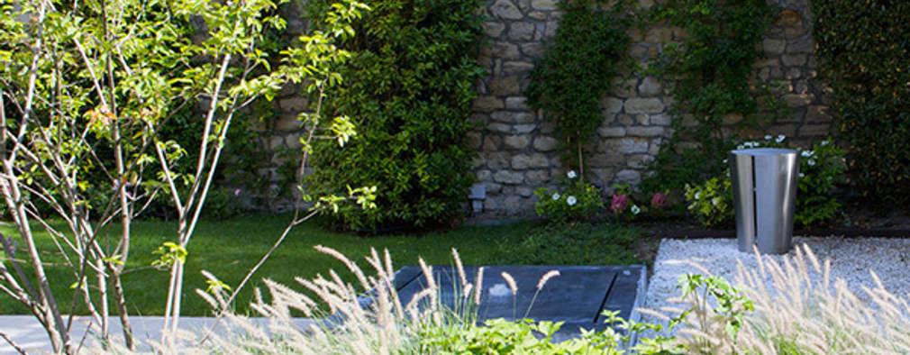 Avant apr s la cr ation d 39 un jardin contemporain dans for Creation jardin contemporain