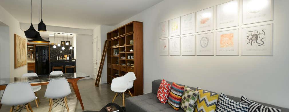 غرفة المعيشة تنفيذ Johnny Thomsen Design de Interiores
