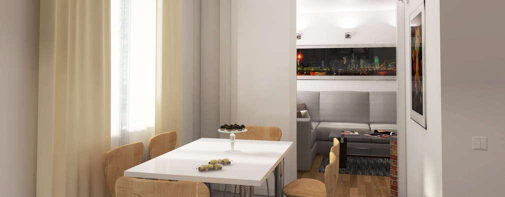 eclectic Dining room by Дизайн студия Александра Скирды ВЕРСАЛЬПРОЕКТ