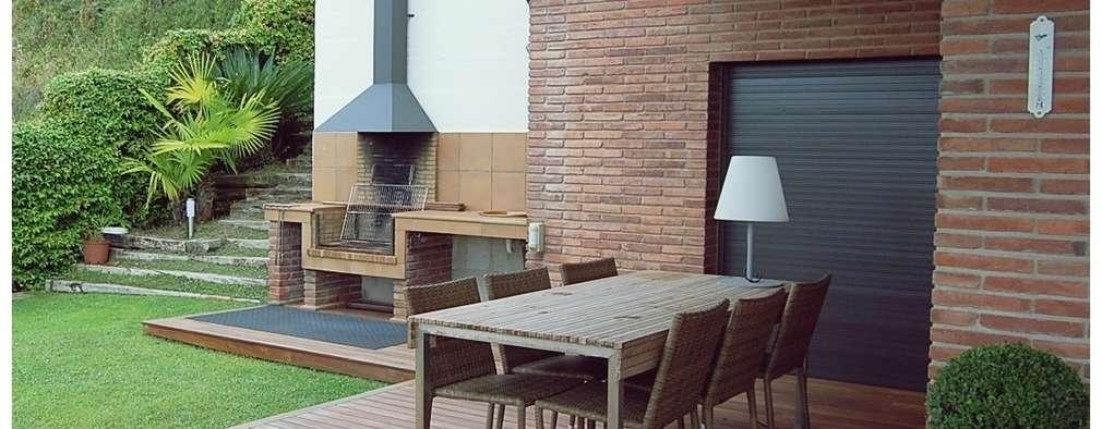9 terrazas con parrilla para disfrutar en familia On parrillas modernas para terraza