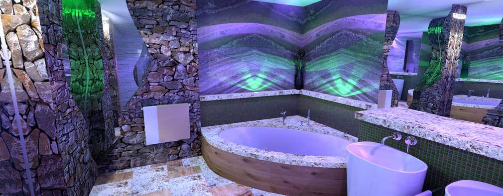 rustic Bathroom by Art of Bath